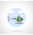 Green helicopter flat color icon vector image vector image