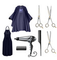 hairdressers instruments realistic set vector image vector image