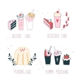 Hand drawn delicious dessert collection Milkshake vector image vector image