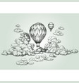 hot air balloon drawing vector image vector image