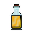 isolated glass bottle vector image vector image