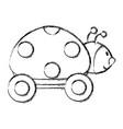 ladybug with wheels icon vector image