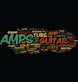 learn about the guitar amp and how it works text vector image vector image