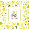 lemonade banner template fresh fruits vector image vector image