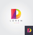 letter D colorful design element vector image vector image