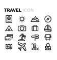 line travel icons set vector image vector image