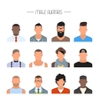 male avatar icons set people characters