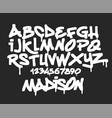 marker graffiti font handwritten typography vector image vector image