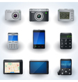 Modern electronic icon collection vector image vector image