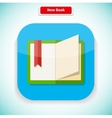 New Book App Icon Flat Style Design vector image