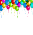 Party decoration with colorful balloons for your vector image vector image
