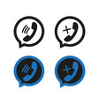 phone icons in speech bubbles simple vector image vector image