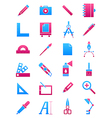 Pink blue design icons set vector image vector image