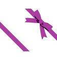 purple bow cartoon purple ribbon satin bow for vector image vector image