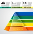 Pyramid 3d infographics vector image vector image