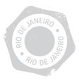 Rio De Janeiro stamp vector image