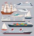 sea transportation ships vector image vector image
