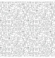 seamless shopping icons pattern on white vector image vector image
