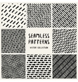 Set Geometric Seamless Pattern vector image vector image