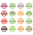 set labels with vegetables vector image vector image