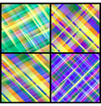 Set of 12 abstract backgrounds vector image vector image