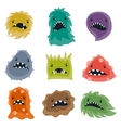 Set of little angry viruses and monsters vector image vector image