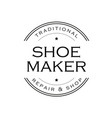 shoe maker vintage sign logo vector image vector image