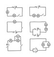 sketch drawing of an electrical circuit set vector image