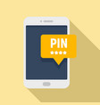 smartphone pin code banking icon flat style vector image vector image