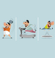 three training men vector image