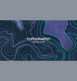 topography background contour terrain vector image vector image