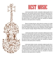 Violin with musical notes for arts template design vector image vector image