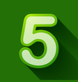 volume icons number five vector image vector image
