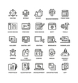 Web and mobile apps development line icons