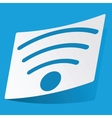 Wi-Fi sticker vector image vector image