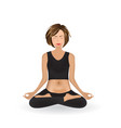 woman doing yoga lotus pose vector image