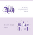 working environment and workplace concept template vector image