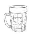 sketch of beer glass vector image