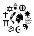 world religions planet earth flower world vector image