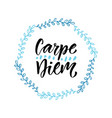 carpe diem handwritten latin quote modern vector image