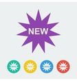 new flat circle icon vector image