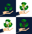 Think green Ecology concept Tree with Recycle vector image