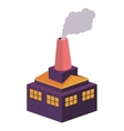 colorful building industrial with fireplace vector image