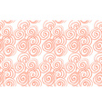 Hand drawn black brush abstract spiral seamless vector image