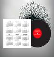 2017 Record Notes calendar vector image