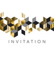 abstract luxury gold and black rhombus pattern vector image vector image