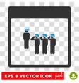 Army Squad Calendar Page Eps Icon vector image vector image