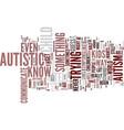 autism text background word cloud concept