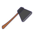 axe tool symbol blue lines vector image