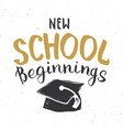 back to school calligraphic lettering calligraphy vector image vector image